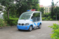 Blue / White Electric Golf Car With Toplight Fiber Glass 4 Seats For Resort