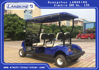 Fuel Type White Street Legal Electric 4 Passenger Golf Cart 48V / 3KW With Basket