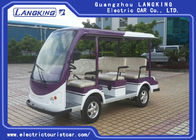 FR Brake Drum 8 Seater Electric Sightseeing Bus With Sofa Chair Electric Tourist