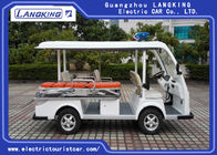 4 Seats One Bed Electric Tour Bus For Sport Center / Electric Sightseeing Vehicle