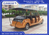 Red Colour Resort Electric Vintage Cars 4 Rows For 11 Passengers 1815 kg Max Loading