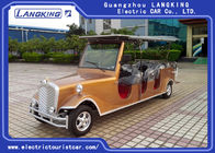 48V Battery Operated Antique Electric Cars With Brown Seat Environmental Friendly