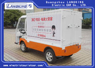 2 Seater Freight Cart  Orang  Electric Luggage Carts Cargo Box  for Factory Park