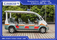 City Street 8 Seats Electric Patrol Car Fiber Glass Body Seats Material With Curtain