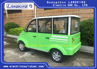 Dark Green 48 Voltage Electric Sightseeing Car , 4 Wheel Electric Golf Cart