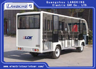 18 People Electric Shuttle Car With Effective Shock Absorb Without Door