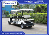 Beach Tire  Battery Powered Electric Road Legal Golf Cart For 7 - 8 Person Adults