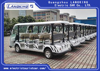 White Color Electric Shuttle Vehicles With 11 Seater Zero Pollution Long Service