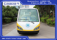 Safety Belt Electric Tourist Car With 14 Seats Battery Protection Chain