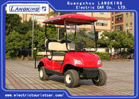 Four Wheel Electric Golf Carts With 2 Rear Seats Powered By 48Volt Free Maintenance Battery 8V*6PCS
