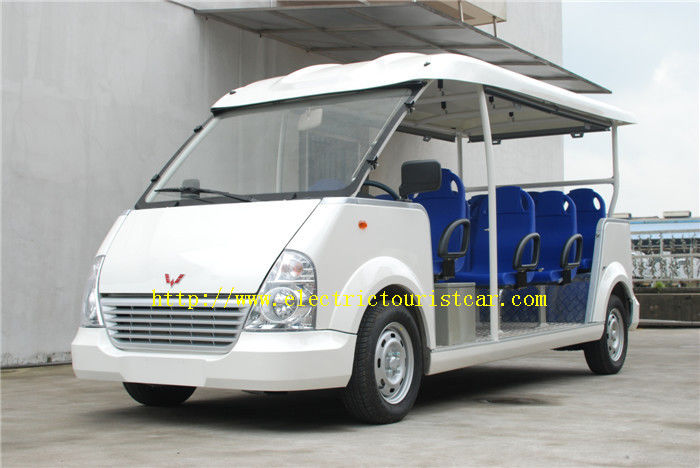 11 Seats Blue Airport Electric Car With High Frequency Onboard Charger