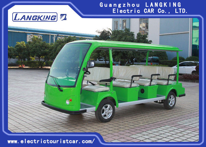 Eco Friendly Electric Tourist Car Green 11 Seats High Frequency Onboard Charger