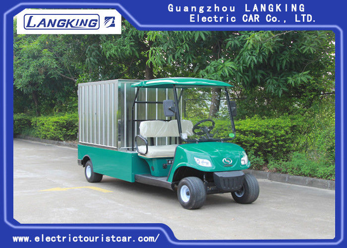 48v / 3kw Motor Electric Golf Cart 2 Seats With Stainless Steel Box For Hotel