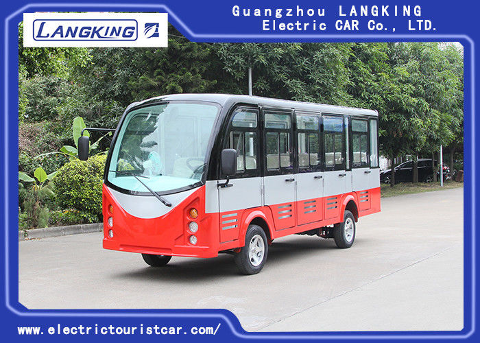 14 Passenger Closed Door Electric Sightseeing Car With Superior Cruising Capacity 72 Volt 7.5KW AC Motor