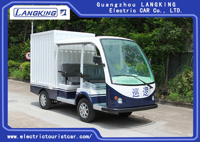 Balck Seats Electric Freight Car / Electric Truck Van Max.Speed 28km/H